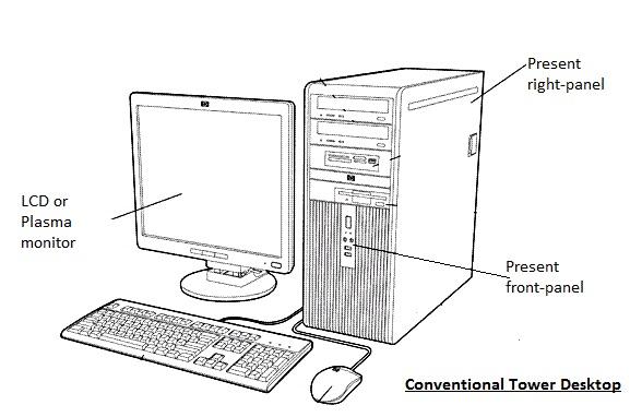 Draw And Label Parts Desktop Computer