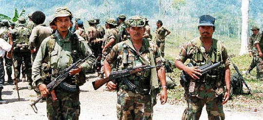Armed men of Nicaragua insurgency during 1980, armed with CIA