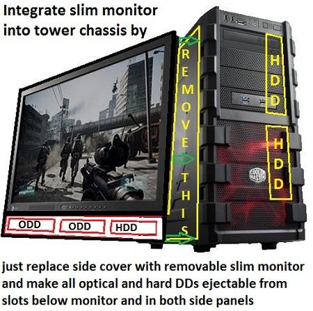 desktop chassis case new design