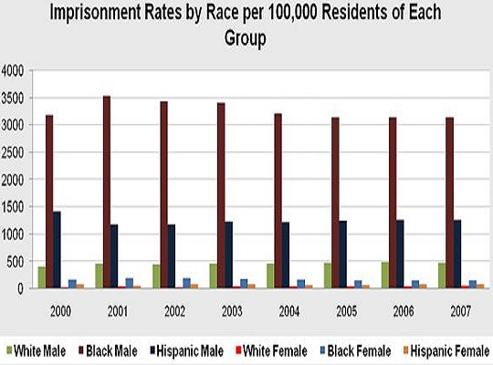 US Prison Population by Race