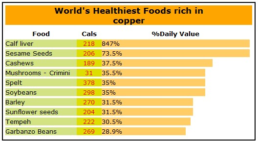 Image result for copper rich food sources