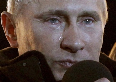 Vladimir Putin cry at victory
