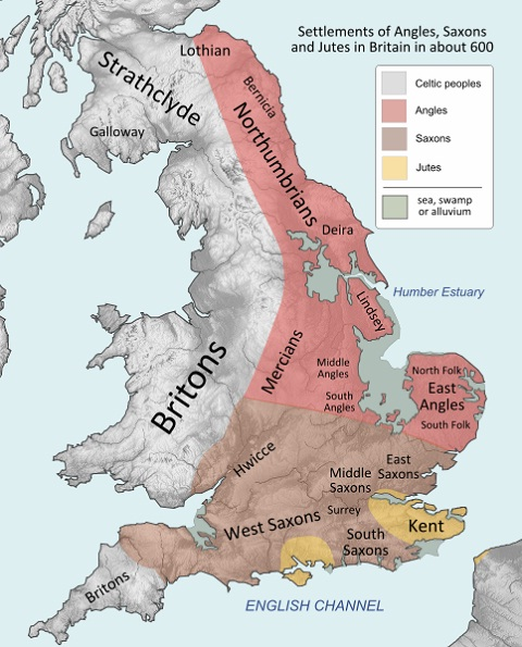 Britain peoples and Anglo-Saxons