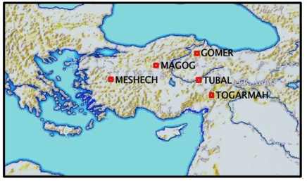 Atlas of the Bible Magog in Turkey
