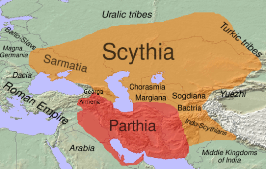 Scythia is the origin of Persians