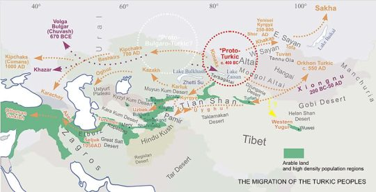 Historical expansion of Turkic peoples
