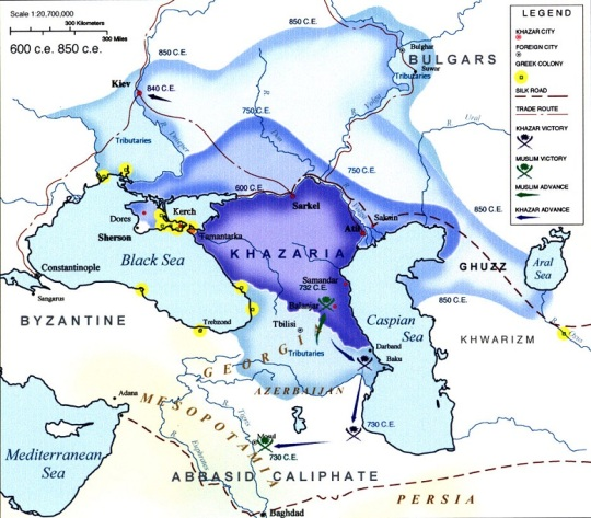 Rise of Khazaria 600 - 850 CE