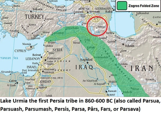 Lake Urmia First Persia Tribal Place in 860-600 BC