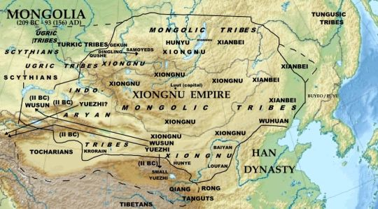 The Xiongnu nomadic peoples
