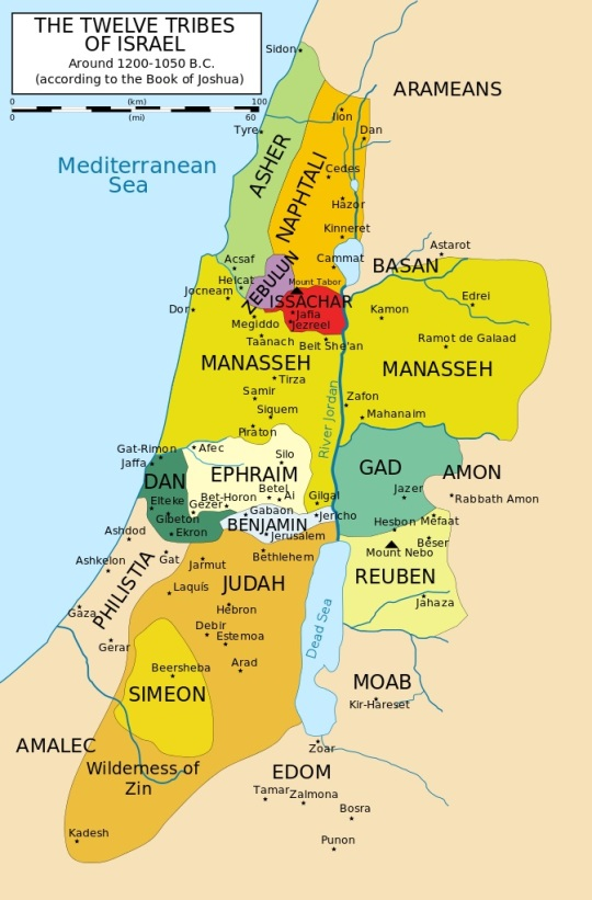 12 Tribes of Israel Map