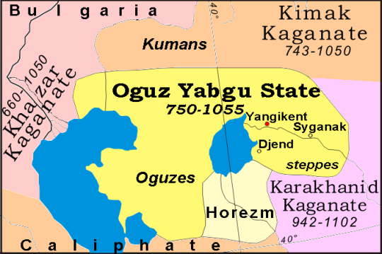 Oguz Yabgu State in Kazakhstan, 750-1055