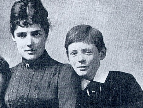 Irresistible Lady Churchill with a young Winston
