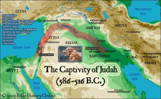 Map of the Babylonian Captivity