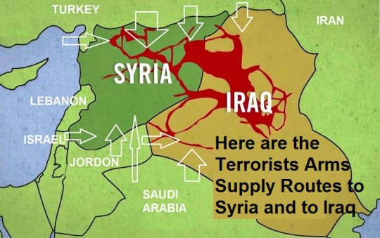 Terrorists Arms Supply Routes to Syria and to Iraq
