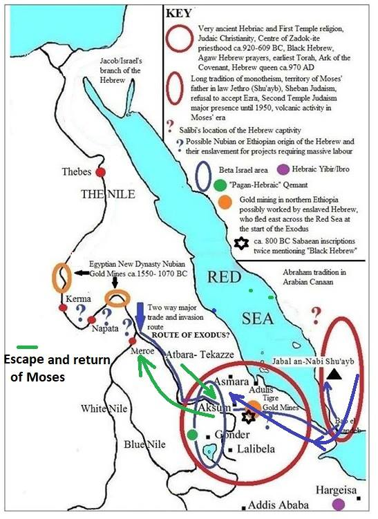 Biblical Promised Land was Asir Not Israel and the Exodus was from