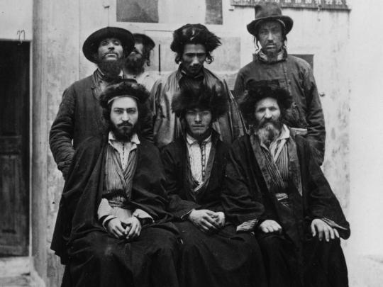 A group of Ashkenazic Jews in Jerusalem, circa 1885 Getty Images