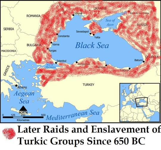 Later Raids and Enslavement of Turkic Groups Since 650 BC