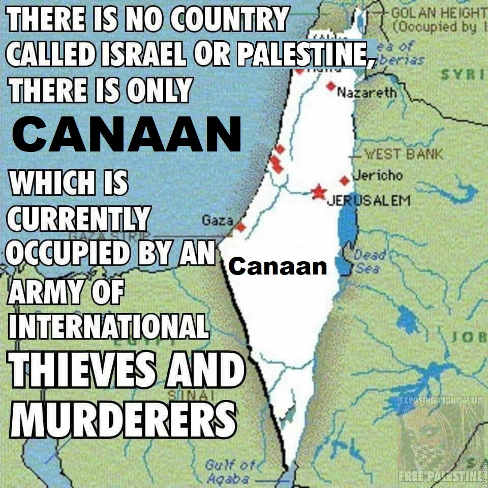 it was not israel nor palestine it was canaan tarig anter on