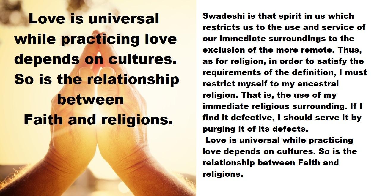 Universal Faith, Local Religions, and Swadeshi