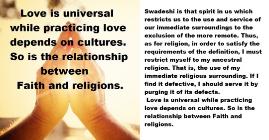 Universal Faith, Local Religions, and Swadeshi