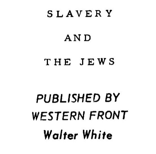 Slavery and the Jews