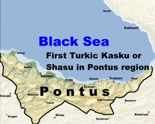 First Turkic Kasku or Shasu in Pontus region