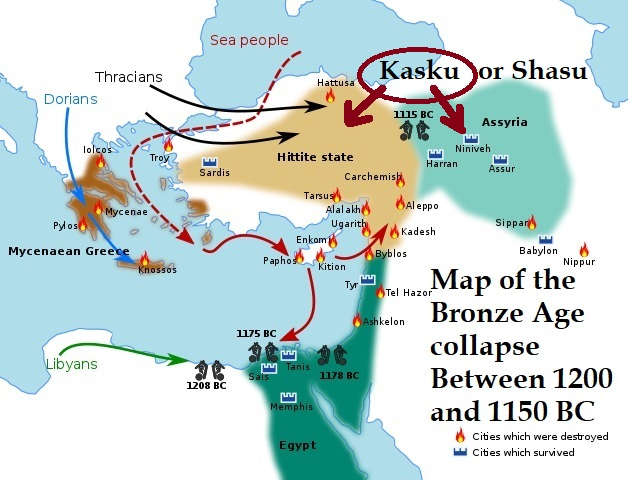 collapse of bronze age greece The greek dark age is the interval between the collapse of the mycenaean civilization, around 1200 bce, and the greek archaic period, around c 800 bcethe dark age era begins with a catastrophic event: the collapse of the mycenaean civilization, when all major mycenaean regional centres fell out of use after suffering a combination of destruction and abandonment.