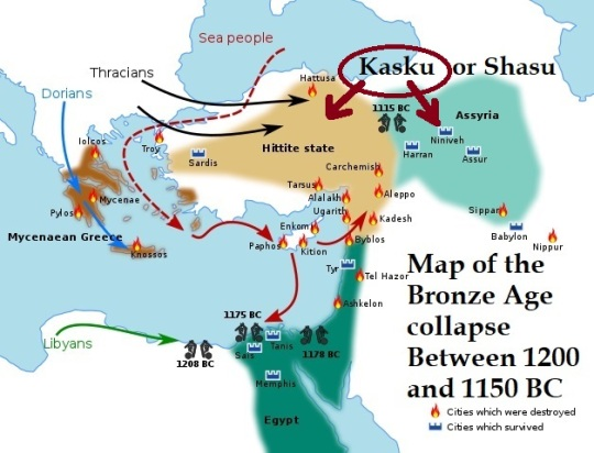 Role of Kasku or Shasu in the Bronze Age collapse Between 1200 and 1150 BC