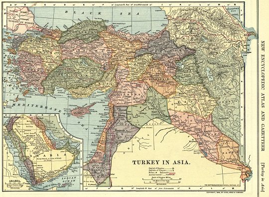 Turkey in Asia new encyclopedic atlas and Gazetteer