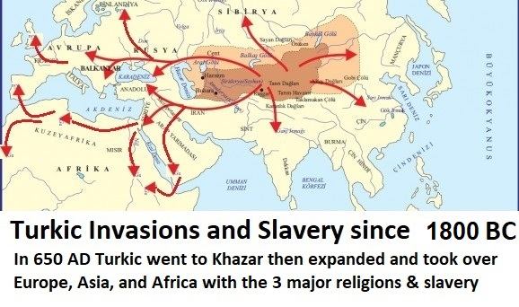 Turkic Invasions And Slavery Since BC In AD Turkic Went To - 3 major religions