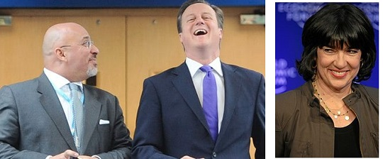 Nadhim Zahawi MP (left), pictured with David Cameron. Christiane Amanpour