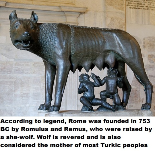 According to legend Rome was founded in 753 BC by Romulus and Remus, who were raised by a she-wolf