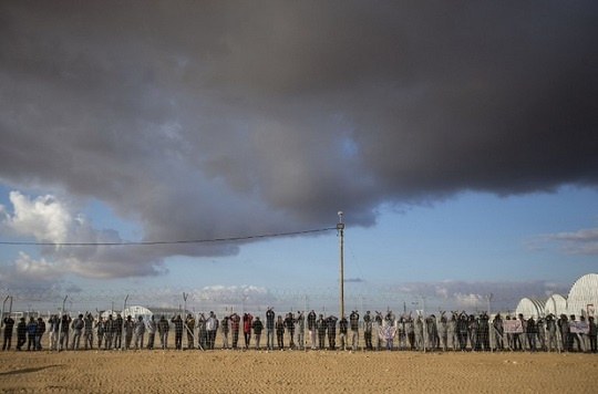 Israel's notorious Holot detention centre in the Negev desert (AFP)