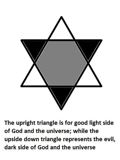 Symbol of Good and Satanic Universe