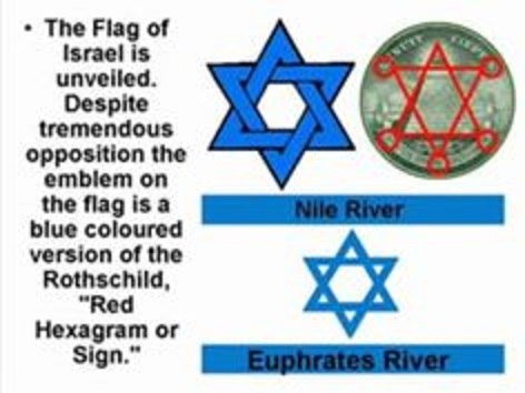 the Rothschild symbol (the Red Shield) turned Blue