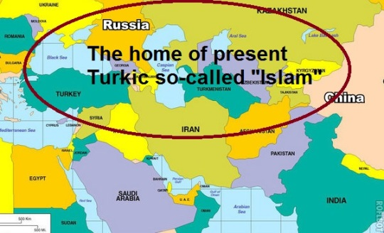 The home of present Turkic so-called Islam